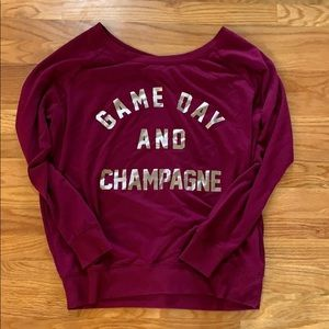 Game Day & Champagne slouchy sweatshirt